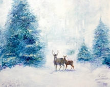 evergreens_and_deer